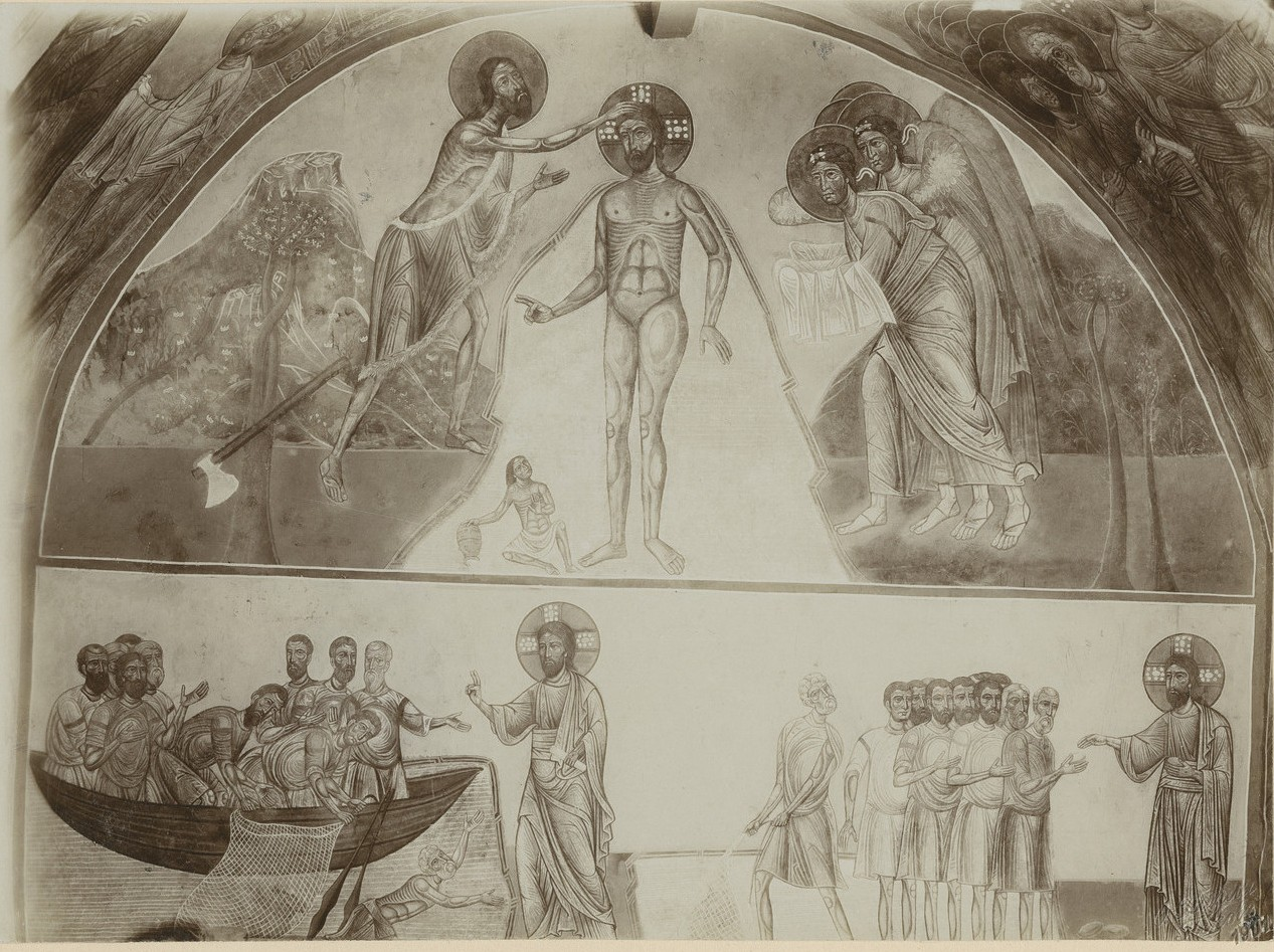 Фрески  центральной части   подкупольного креста  Спасо-Преображенского собора Мирожского монастыря