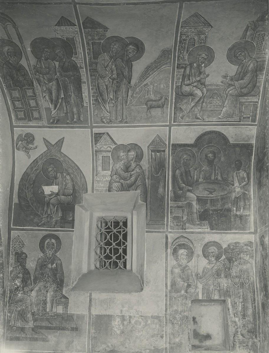 Фрески юго-западного компартимента над хорами Спасо-Преображенского собора Мирожского монастыря