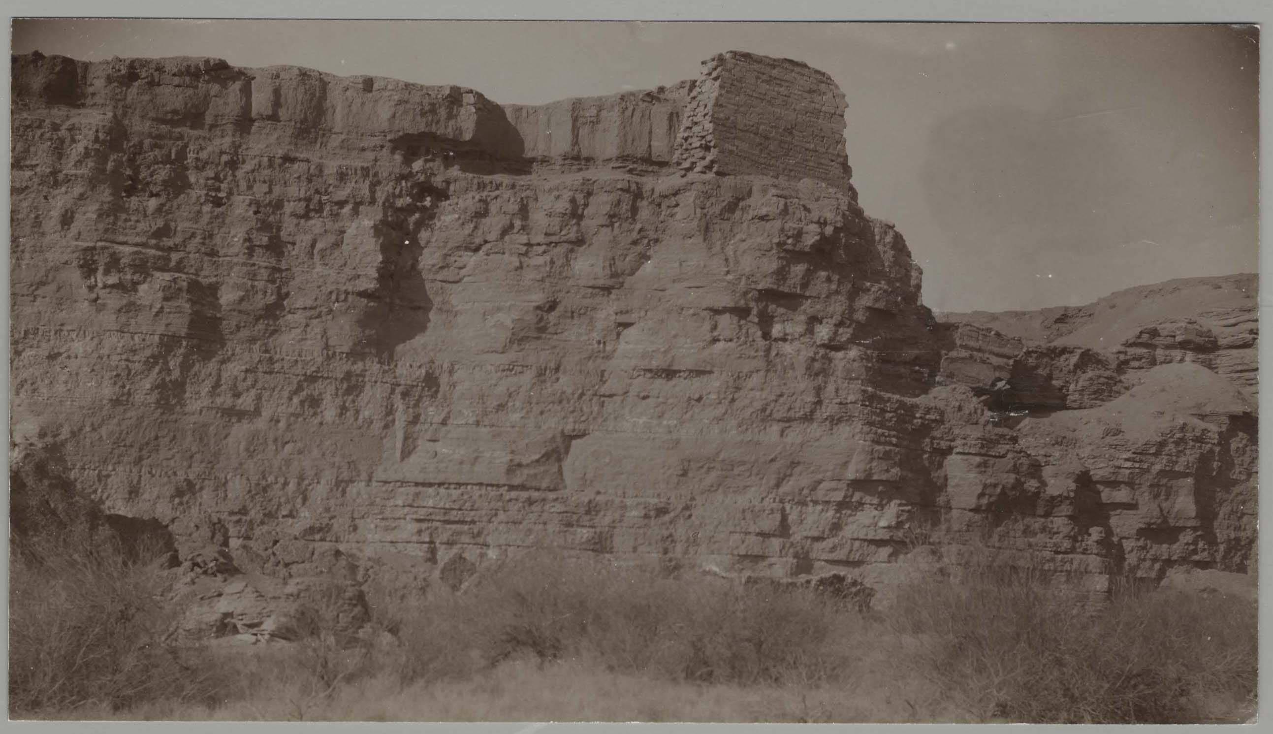 Дура-Европос. Вид на крепость из поймы Евфрата