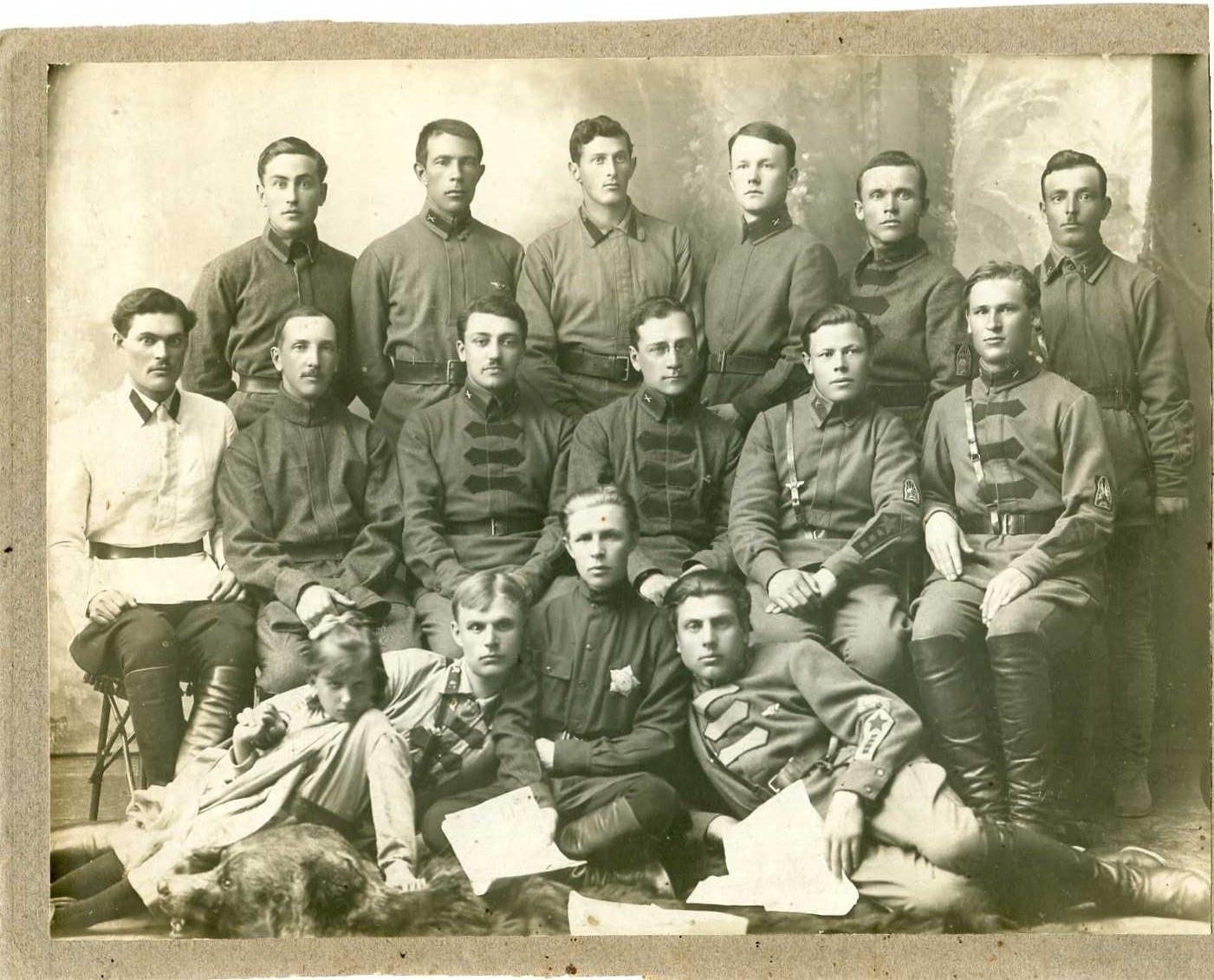 1924. Группа курсантов ВПШ. Ташкент