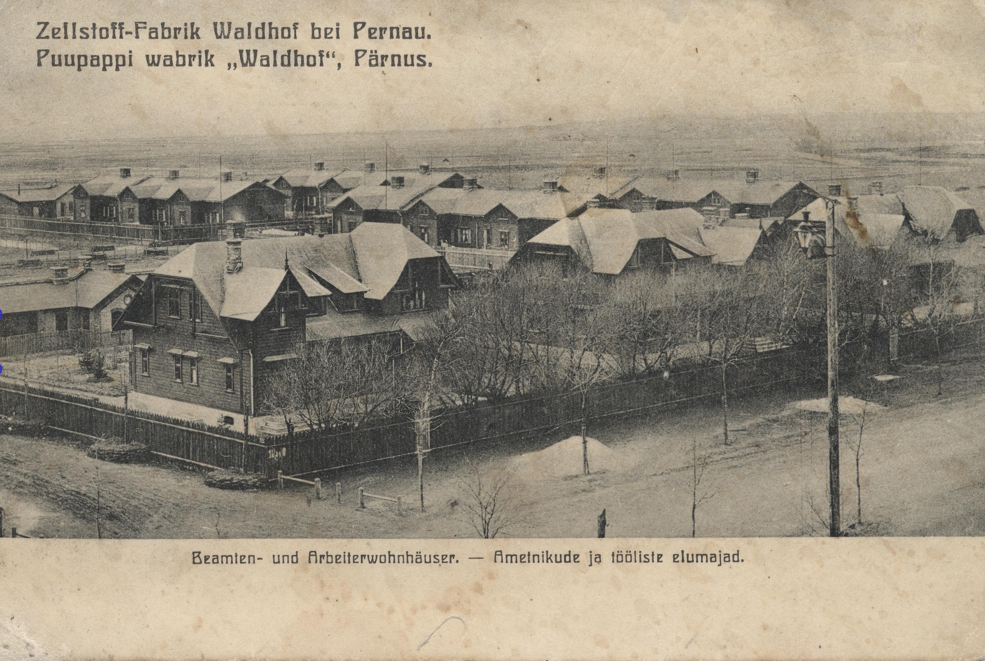 Целлюлозная фабрика. Дома служащих и рабочих фабрики