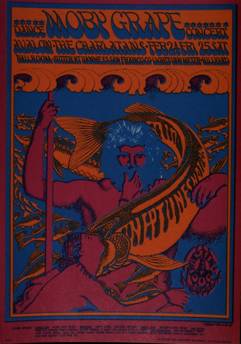 Moby Grape Dance Concert The Charlatans, February 24, Friday 25 Saturday Avalon Ballroom,