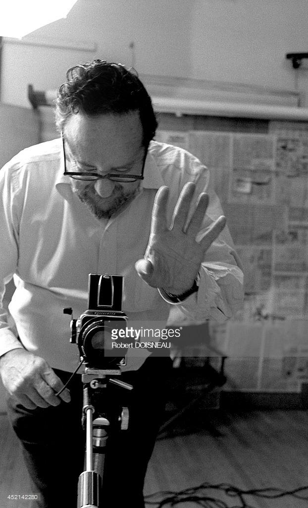 1981. Арнольд Ньюман во время фотосессии 26 апреля в Нью-Йорке