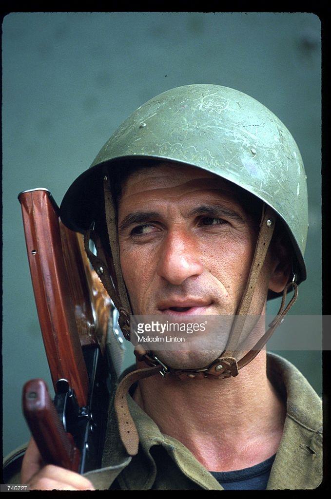 1993. Июль. Сухуми. Грузинский солдат