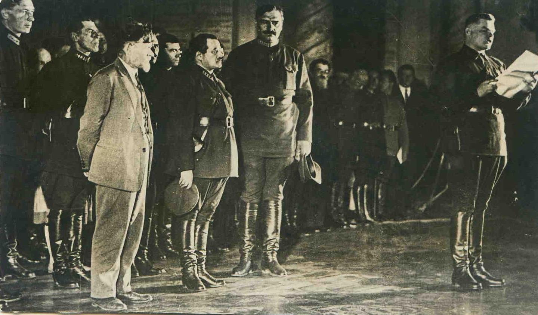 1930-е. ншлихт,Калинин,Эйдеман,Бубнов на торж.вечере в Ак.им Фрунзе