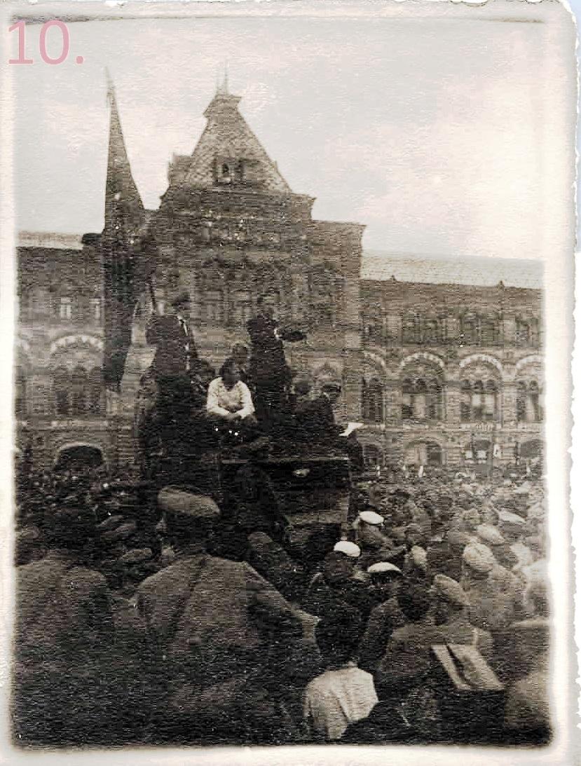 1918. Речь Л.Каменева перед красноармейцами. Москва