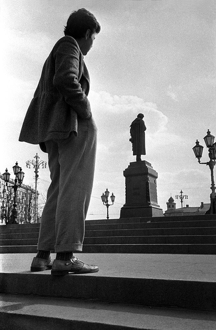 1957. Рядом с Пушкиным