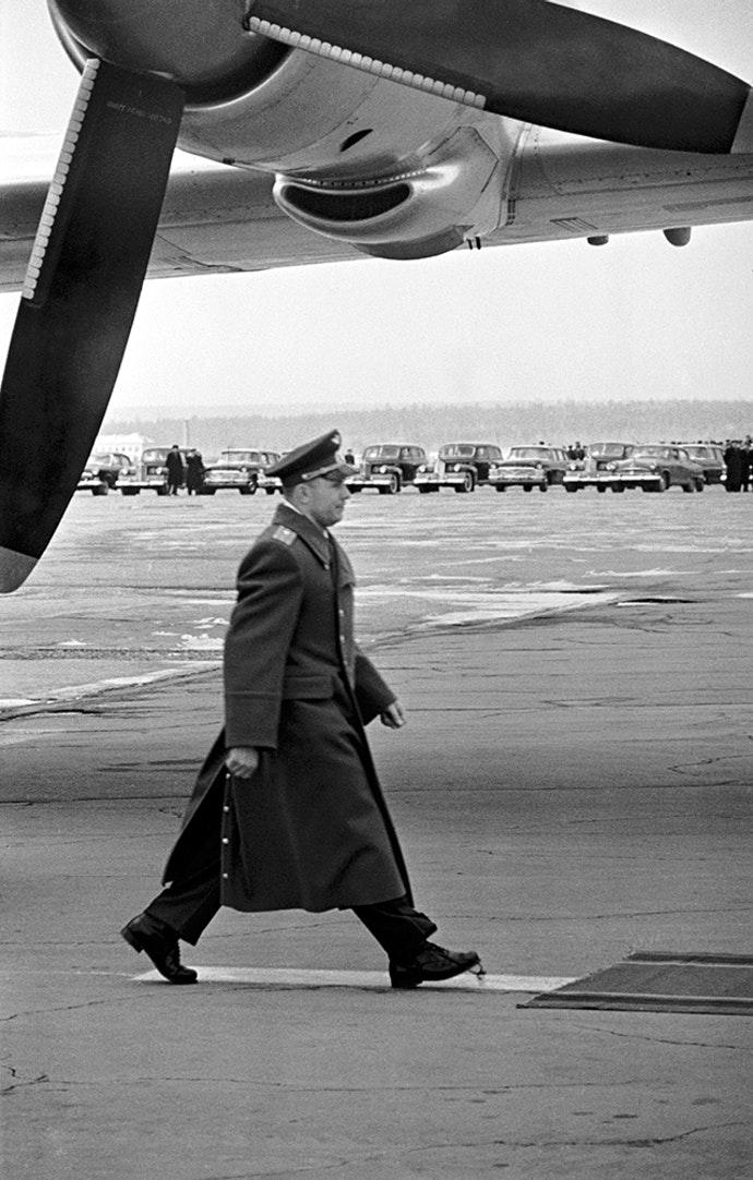 1961. Юрий Гагарин. Внуково, 14 апреля