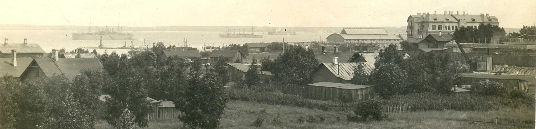 Строительства военного порта в Ревеле. 1914.