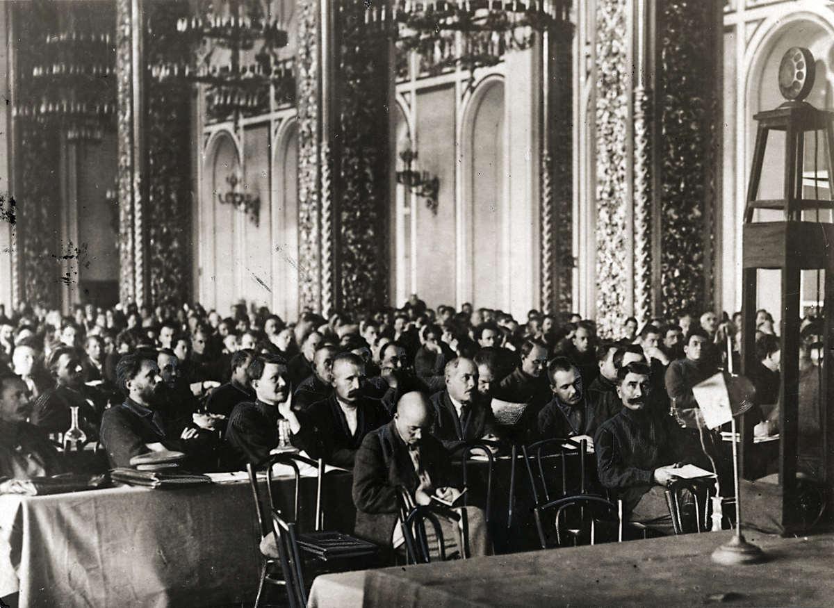 1924. Съезд Коммунистической партии в бывшем царском дворце в Кремле