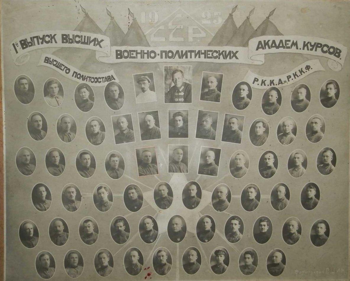 1925. 1 выпуск Высших ВПАК РККА ЦИК