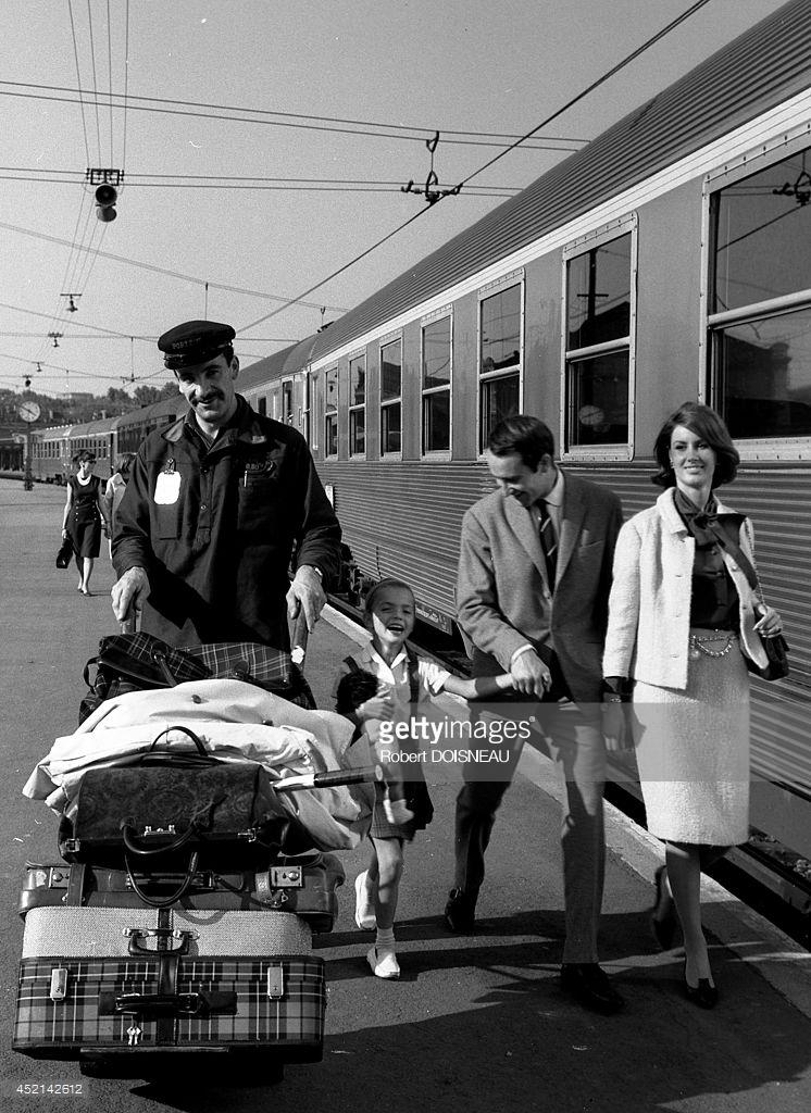 1964. Фотосессия для рекламы SNCF. 24 сентября