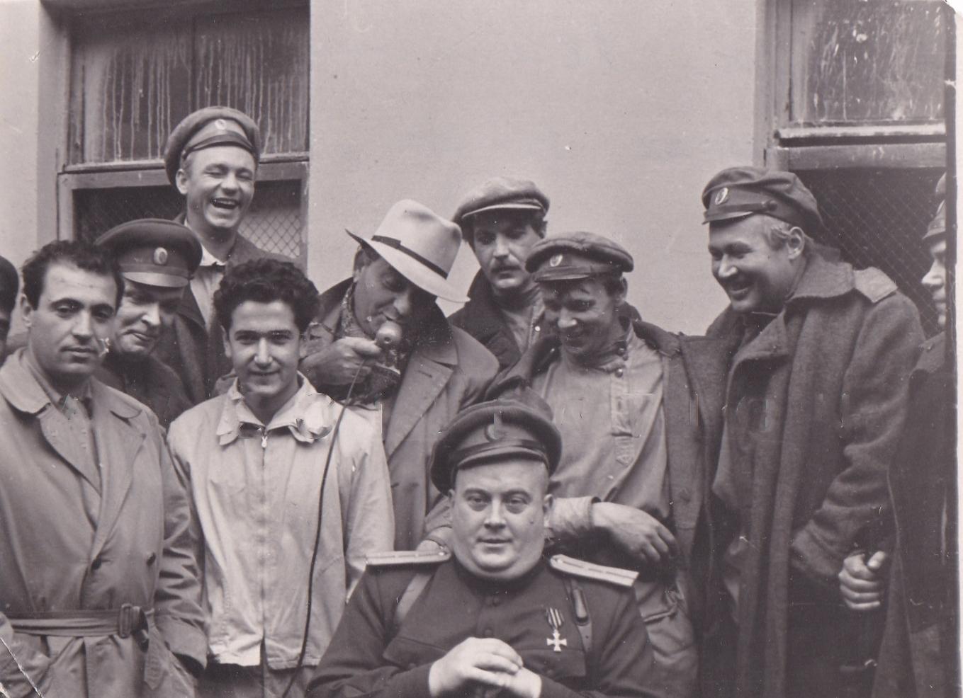 1961. На съёмках фильма «Две жизни». Малая Охта. Ленинград