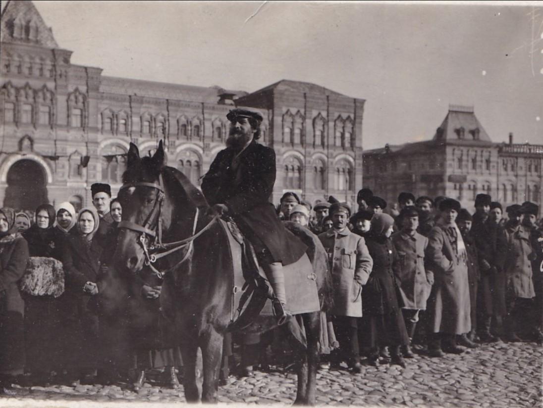 1918. Комиссар Попов на Красной площади