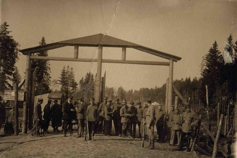 1918.  Погранпост на границе с Германией. Белоруссия.