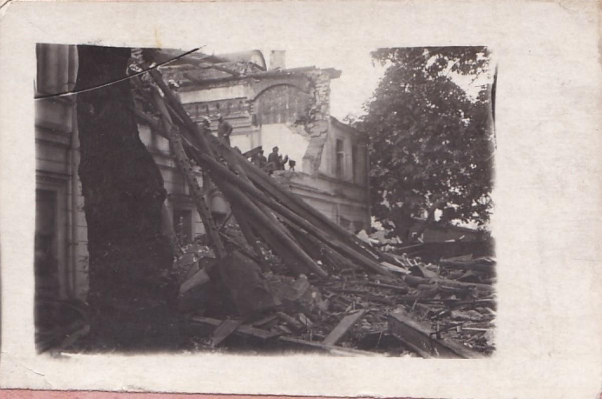 1919. Взрыв в Леонтьевском переулке. Разрушенное здание. Москва