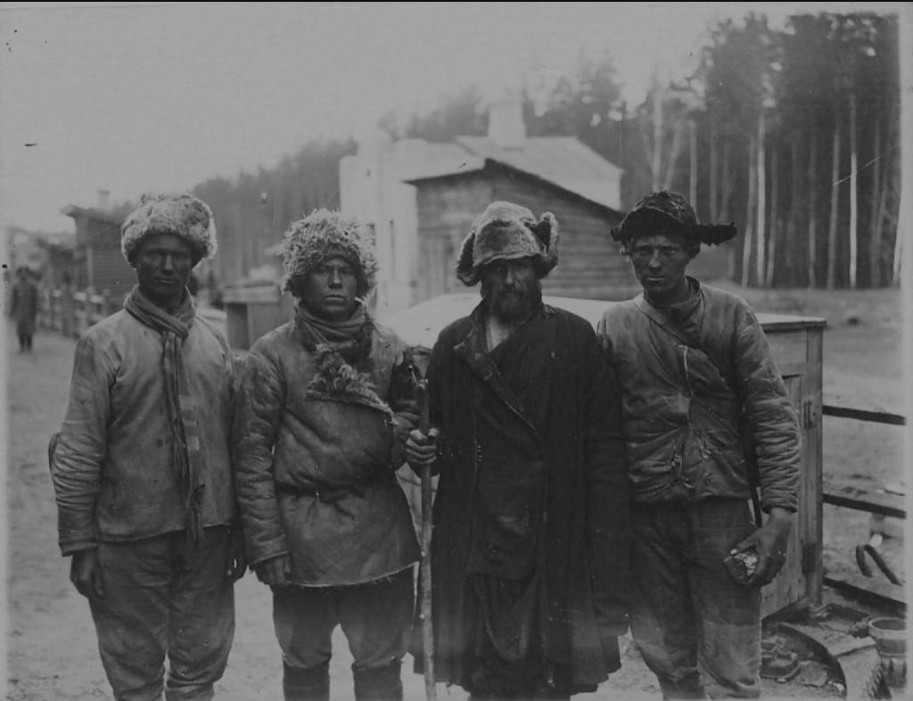 1919. Красноармейцы,бежавшие из колчаковского плена