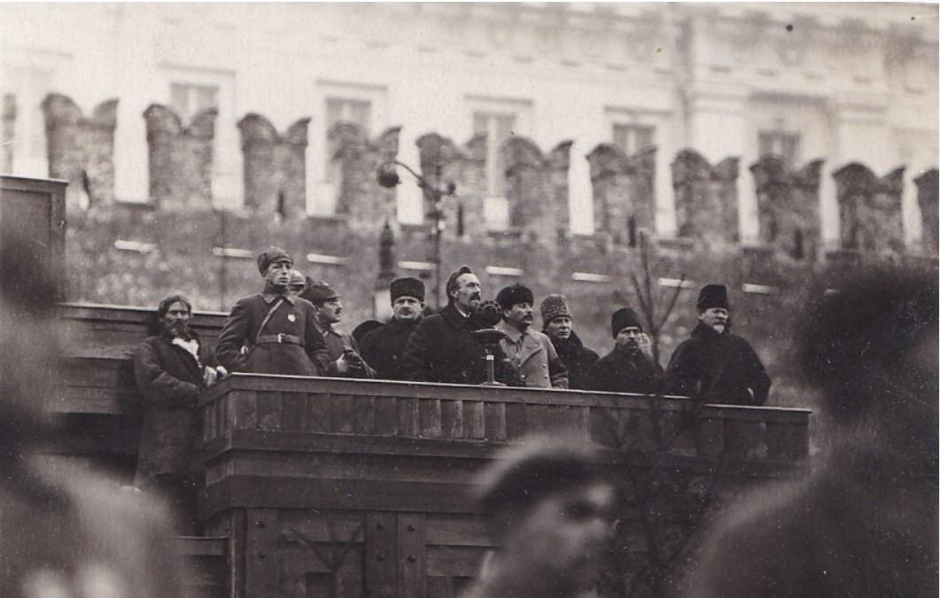 1925. День похорон Фрунзе. Члены Правительства на трибуне мавзолея