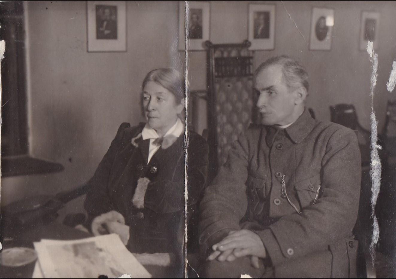 1927. Вера Фигнер -- революционерка-эсерка. Москва,