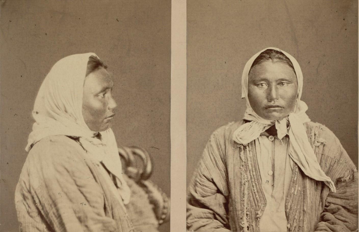 Антропологические портреты киргизских женщин