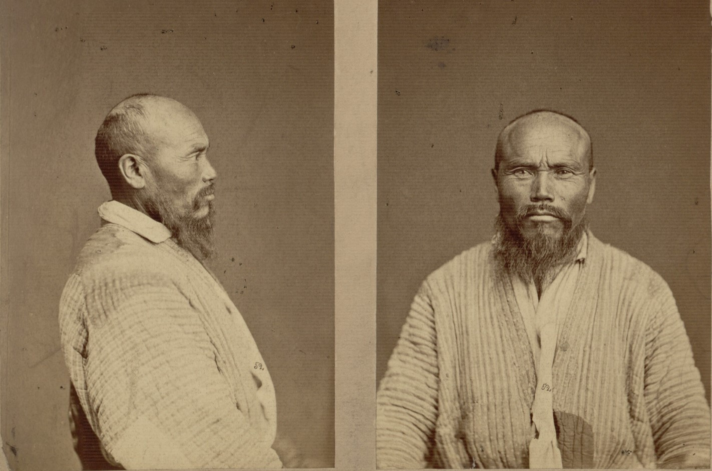 Антропологические портреты киргизских мужчин