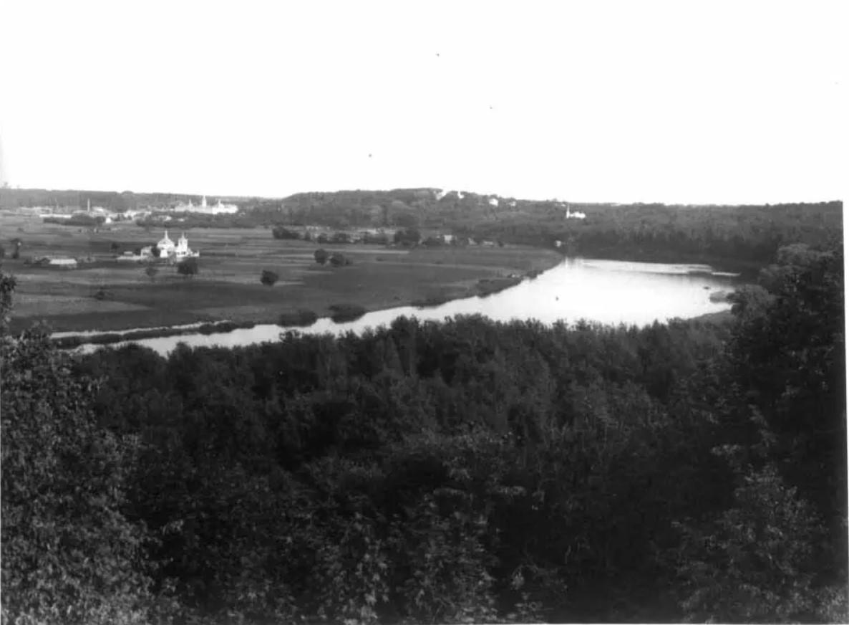 Вид на Лужники и Воробьёвы горы со стороны Потылихи. 1905