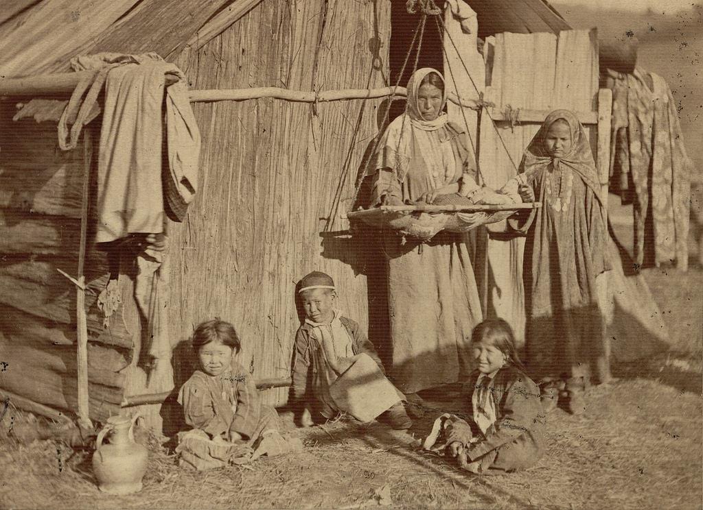 Башкирка со своей семьей