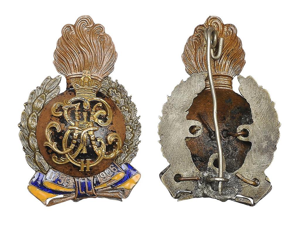 Знак 6-го гренадерского Таврического генерал-фельдмаршала Великого Князя Михаила Николаевича полка гренадерского полка