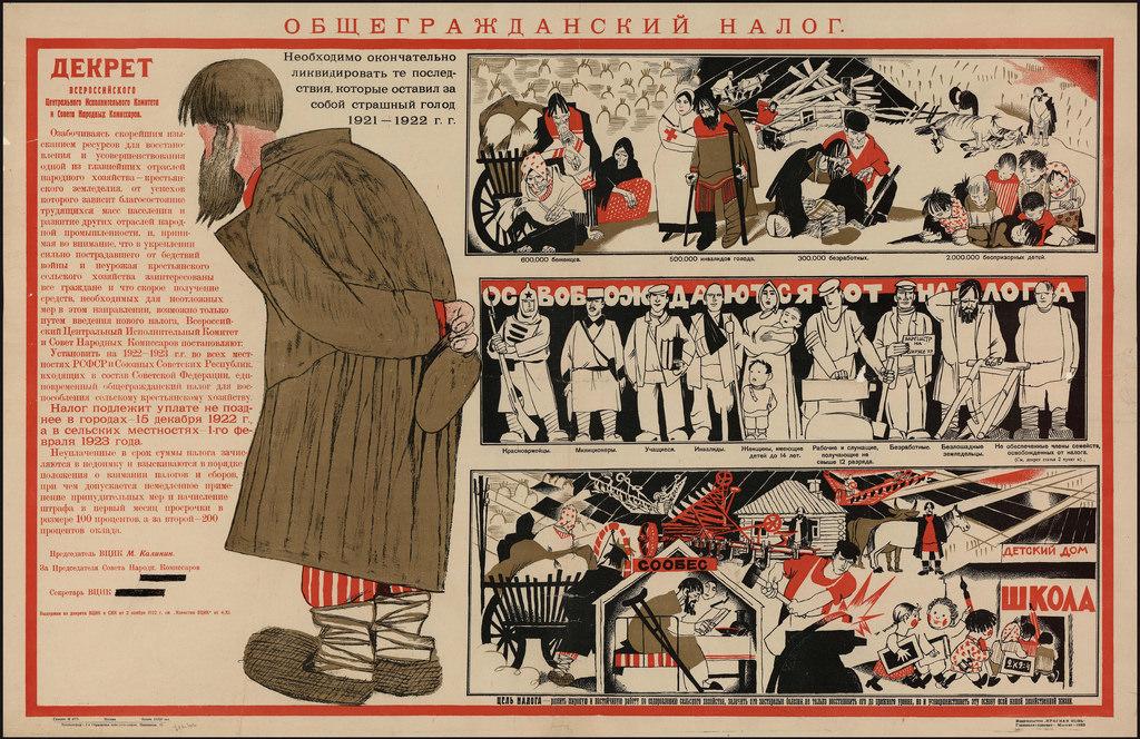 1923. Общегражданский налог. Декрет Всероссийского Центрального Исполнительного Комитета и Совета Народных Комиссаров