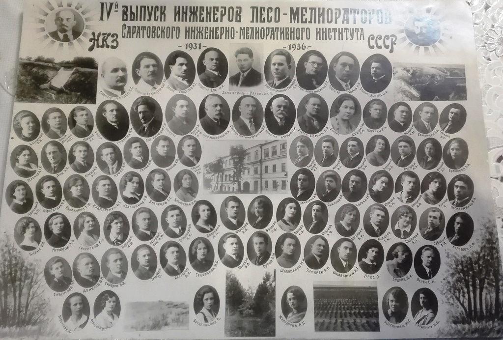 1936. Саратовский инженерно-мелиоративный институт