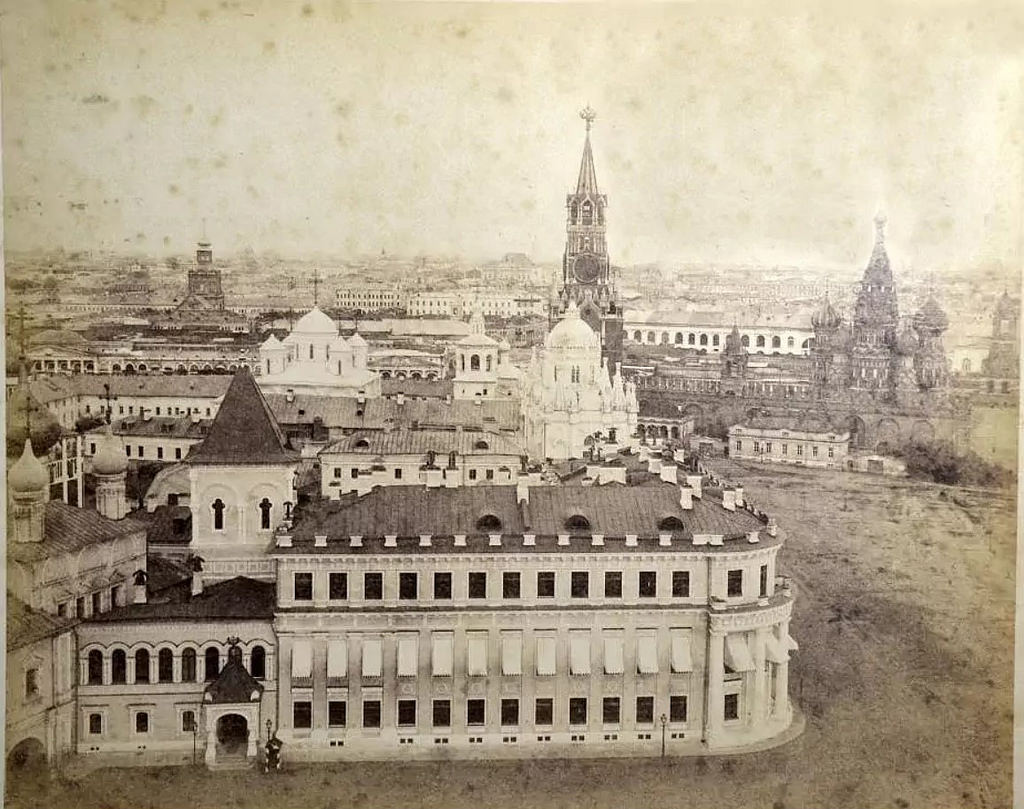Вид с Ивановской колокольни в сторону Красной площади. 1877