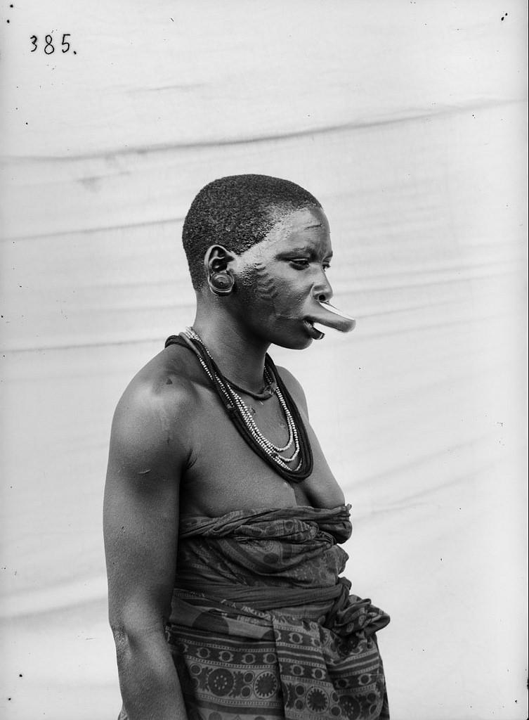 174. Антропометрическое изображение женщины маконде с татуировками