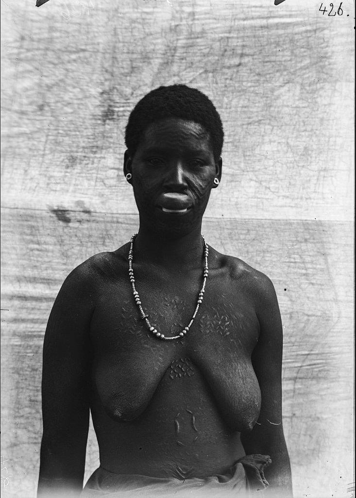 184. Антропометрическое изображение женщины маконде с татуировками