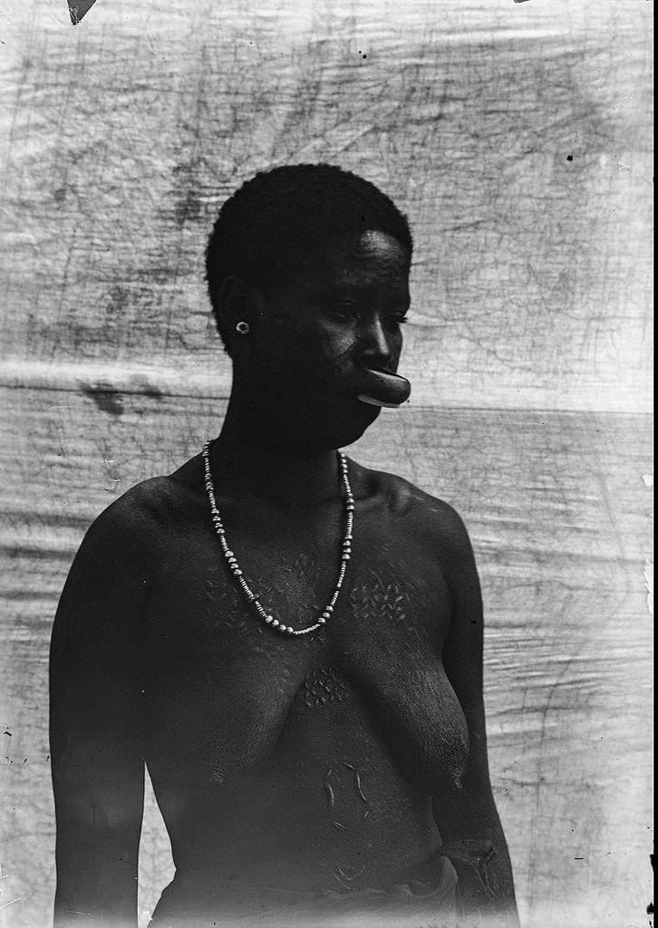 185. Антропометрическое изображение женщины маконде с татуировками