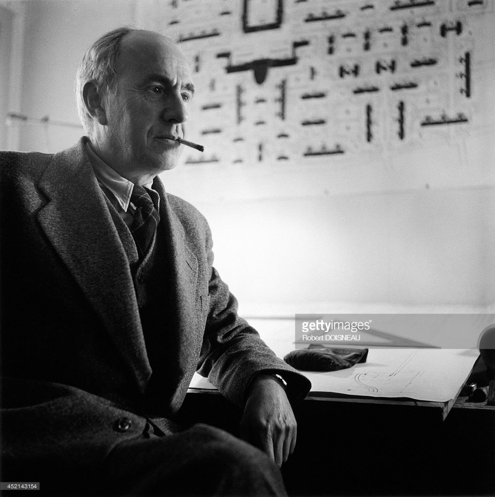 1952. Портрет французского архитектора Андре Лурката
