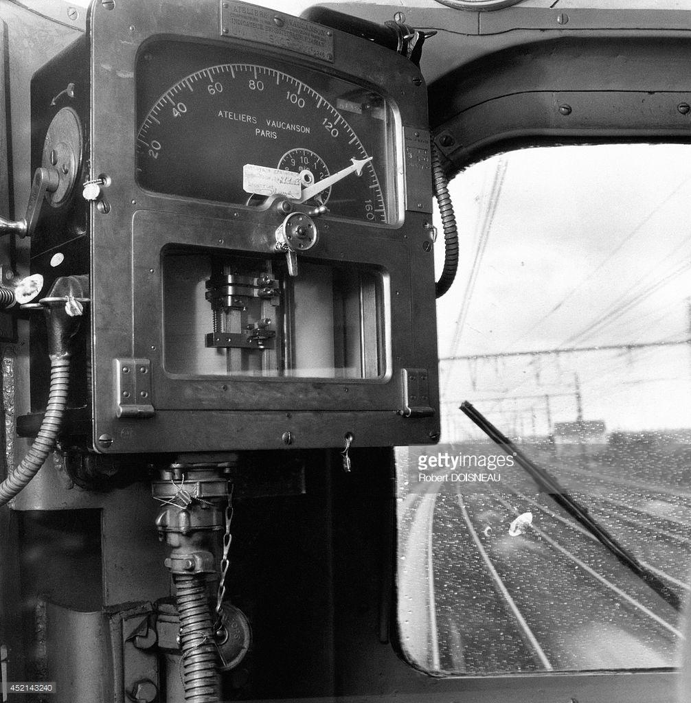 1955. Кабина машиниста поезда «Мистраль»