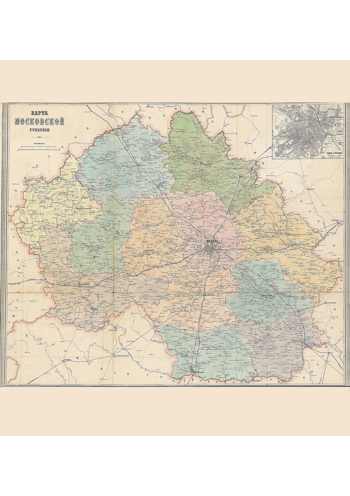 04. Карта Московской губернии