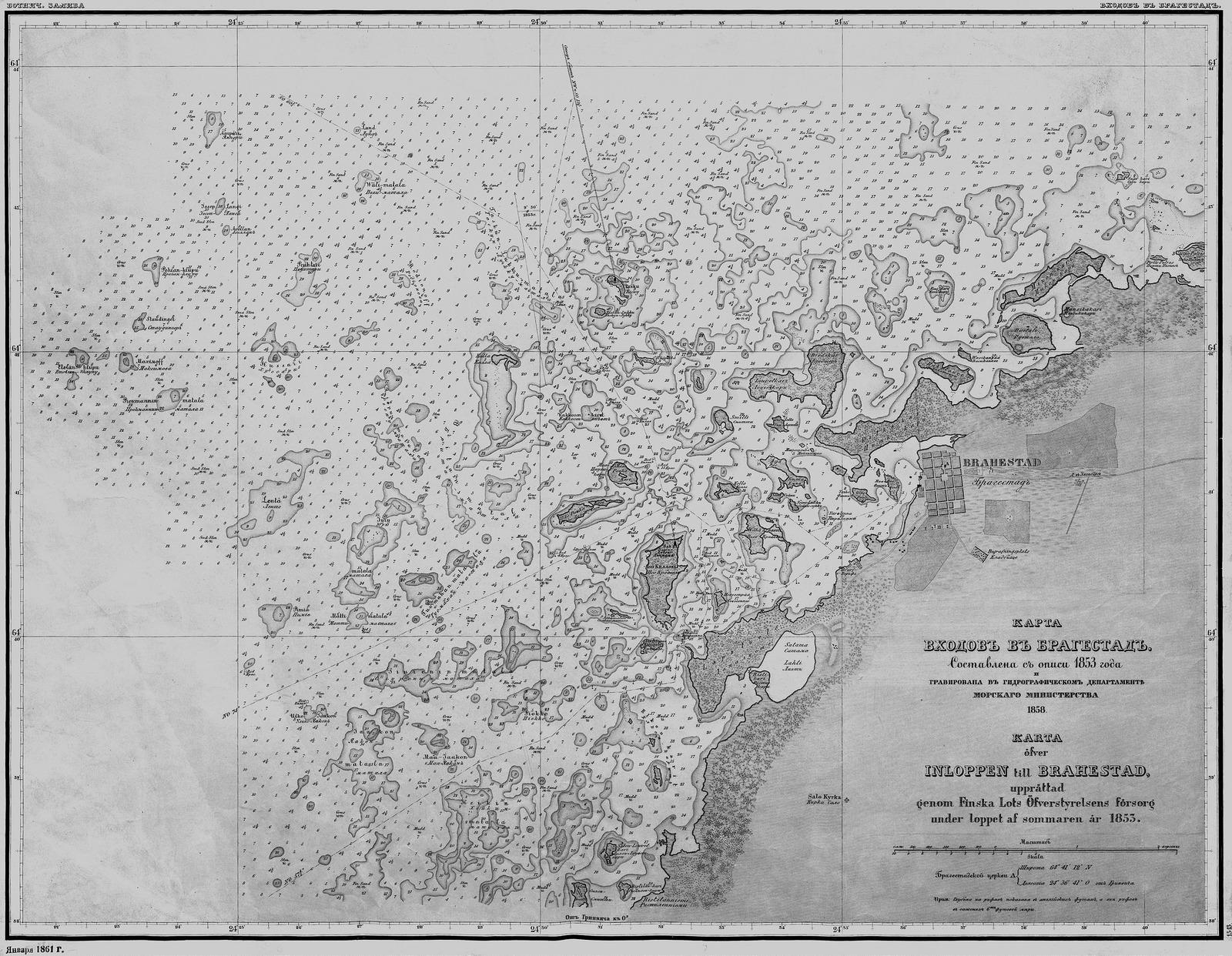 Карта входов в Брагестад_1858