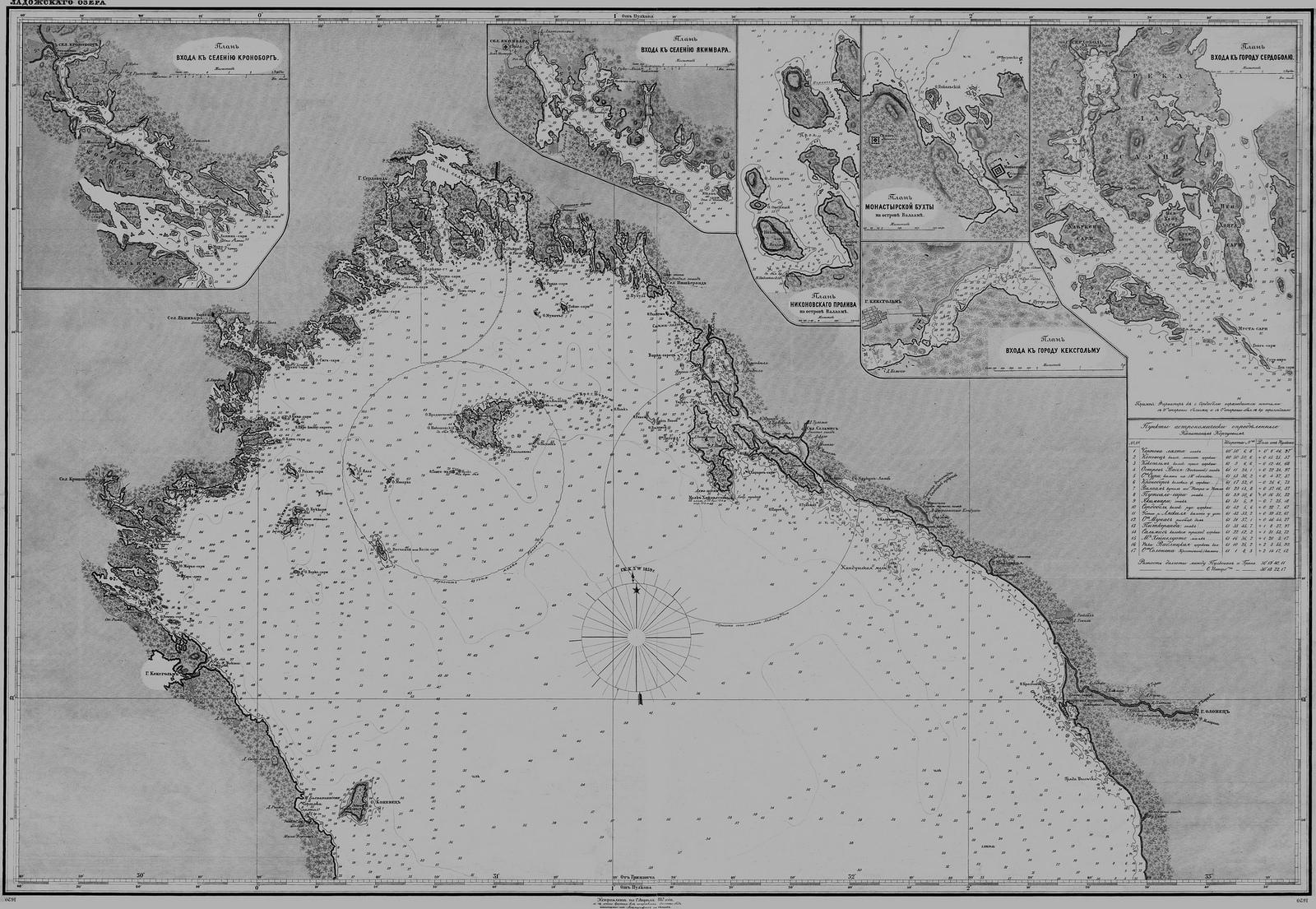 1887. Ладожское озеро (северная часть)
