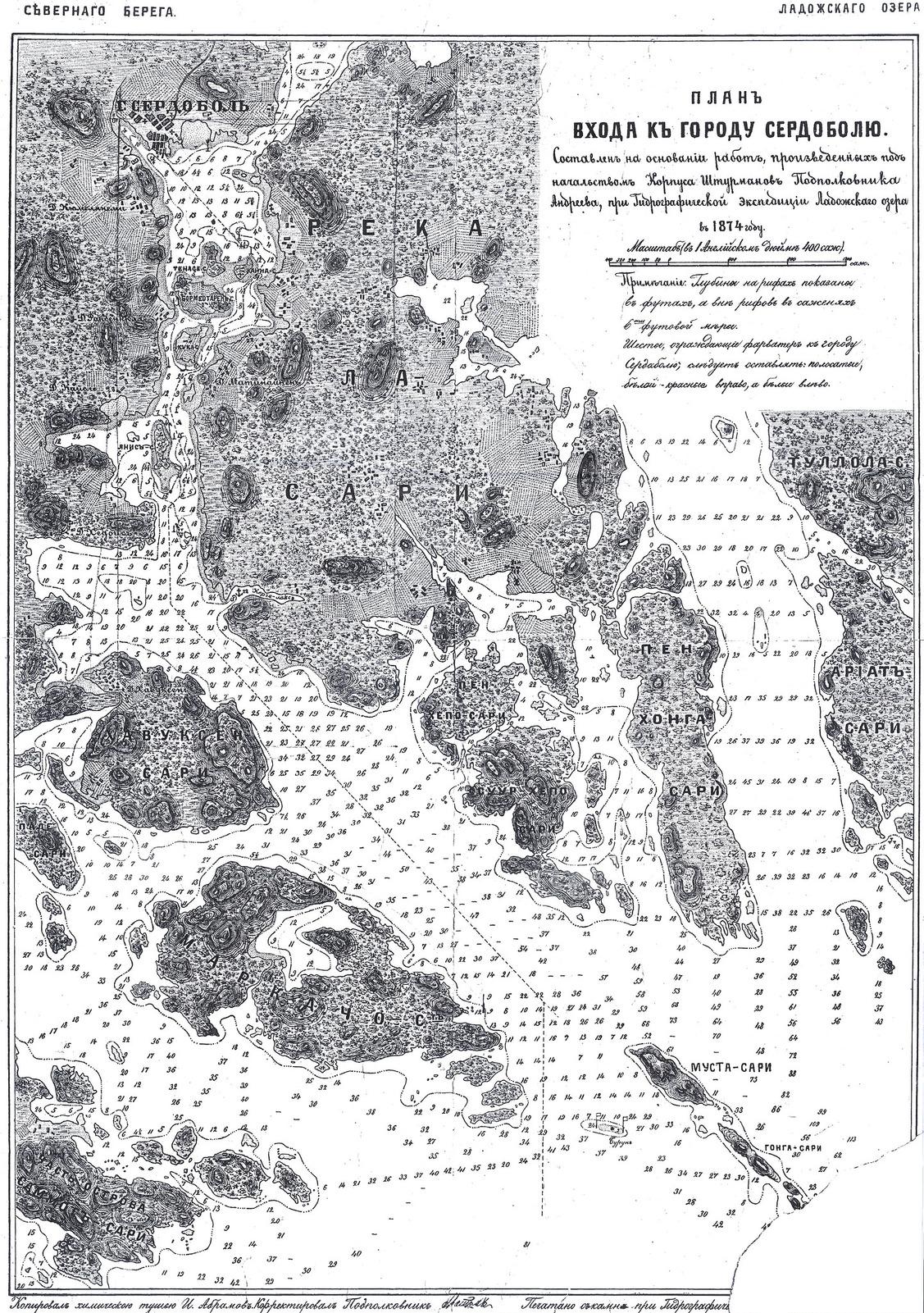 1874. План входа к городу Сердоболю