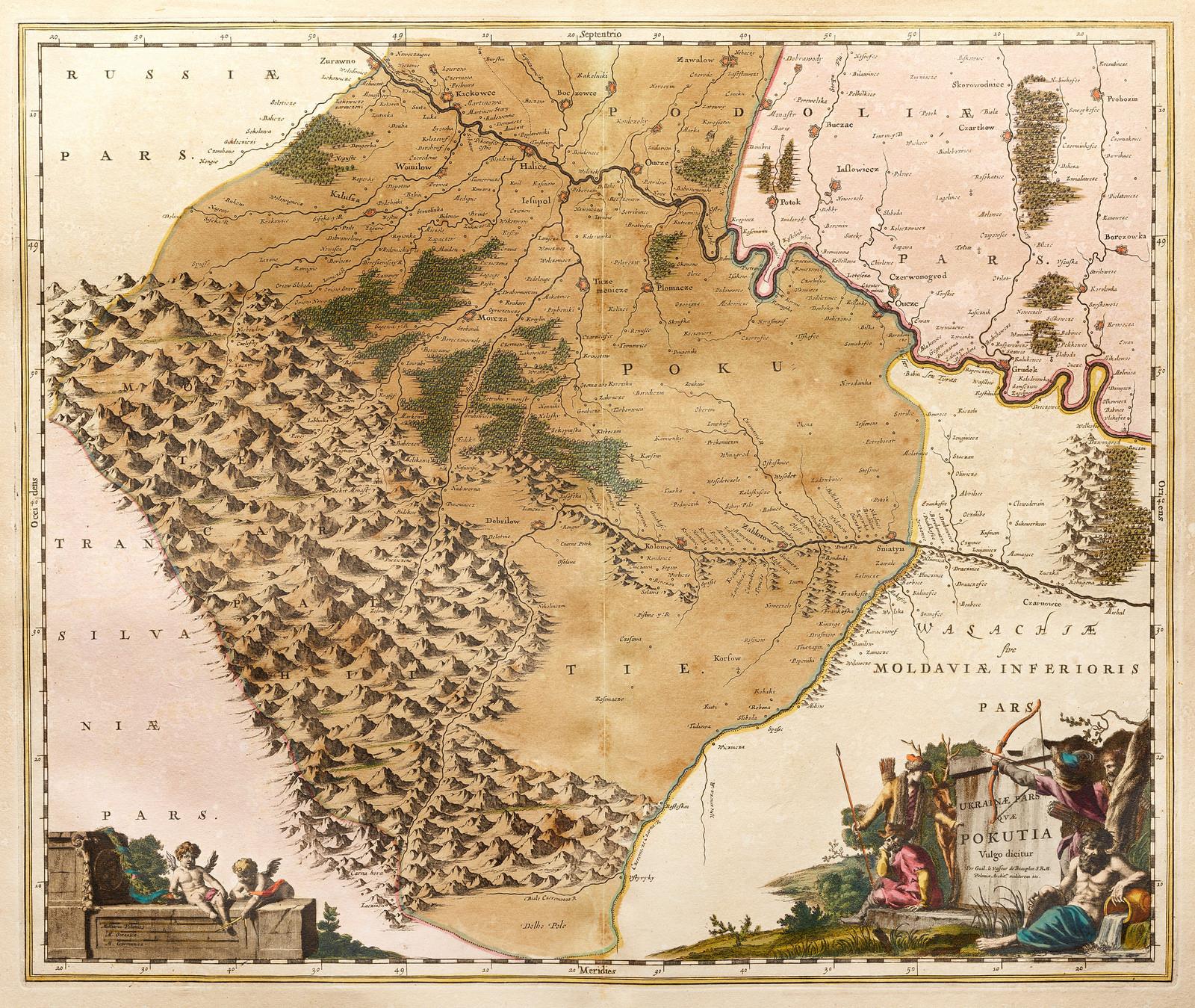 Ukrainae pars qvae Pokutia Palatinatus 1670