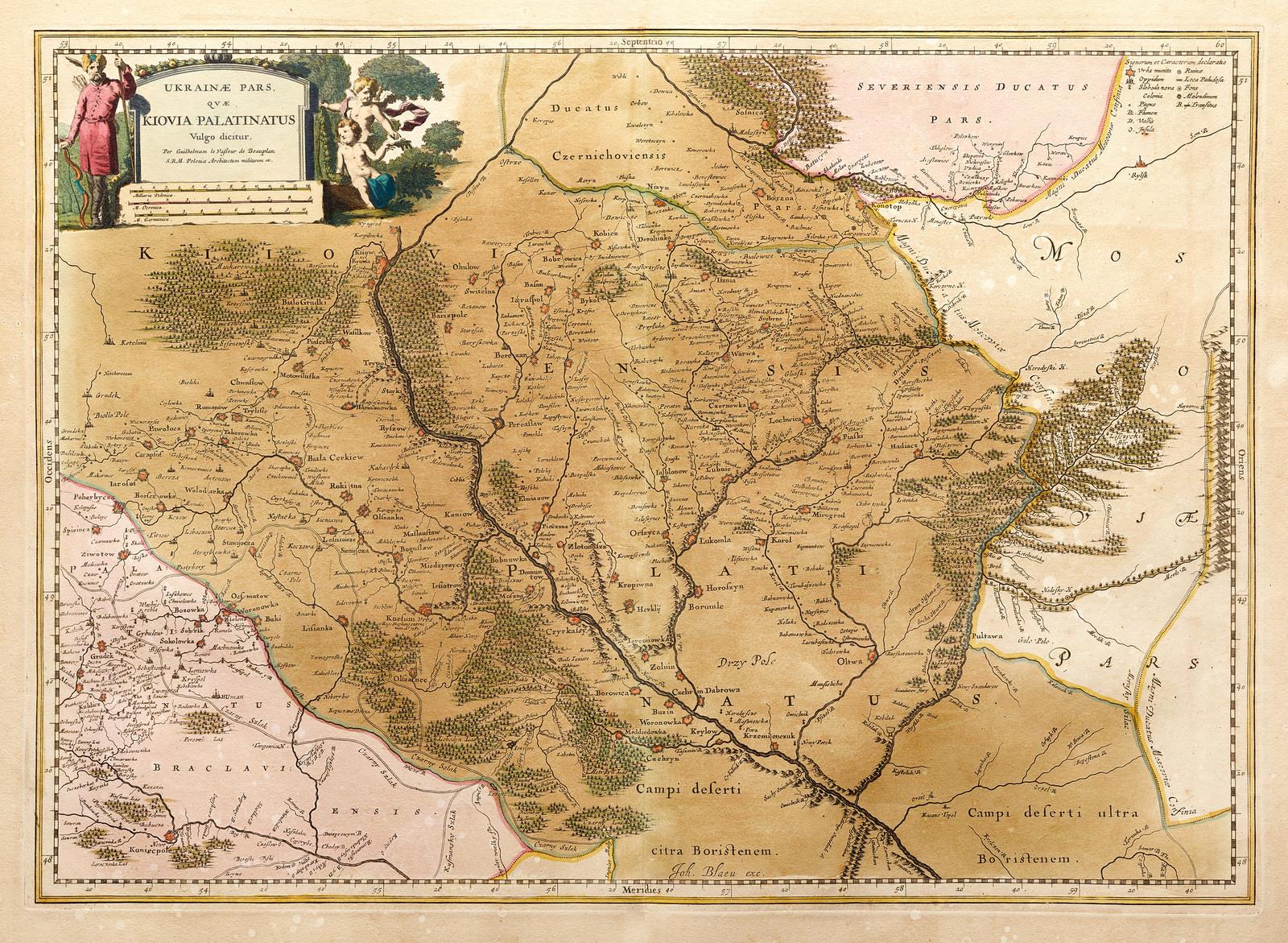 Ukrainae pars qvae Kiovia Palatinatus 1670