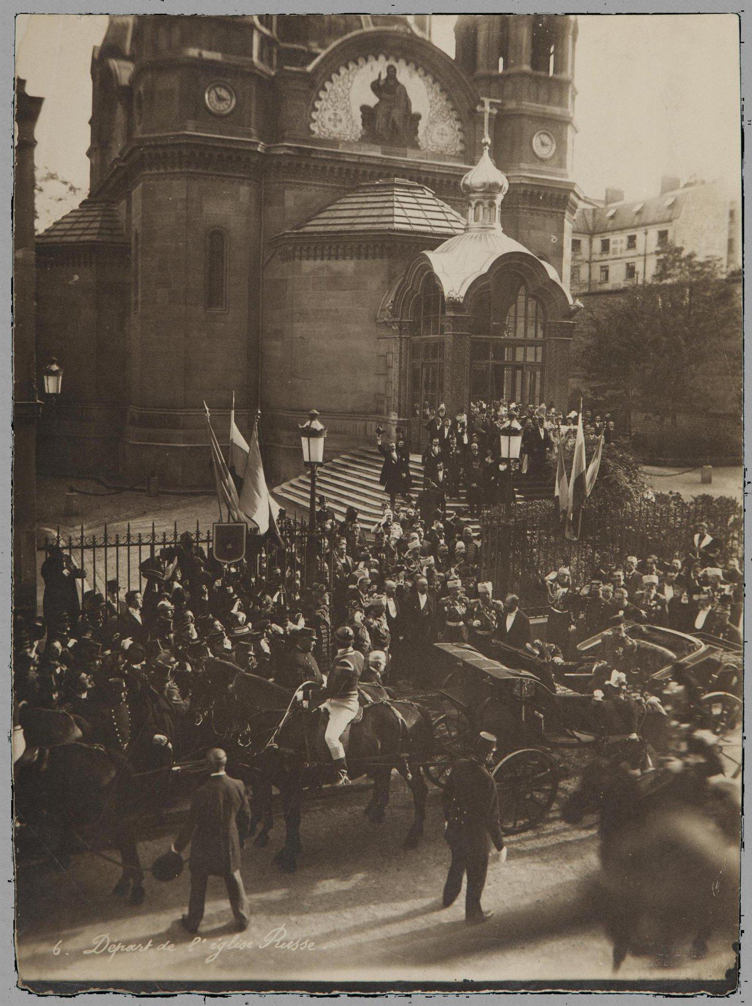 1896. Встреча Николая II у собора Александра Невского в Париже.jpg