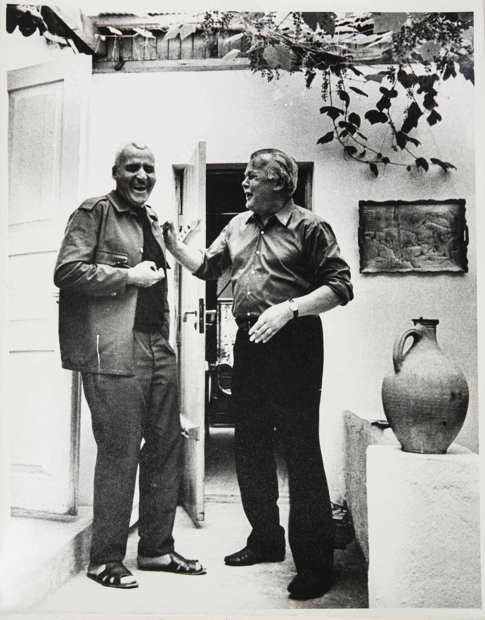 1970-е. К. Симонов и А. Твардовский