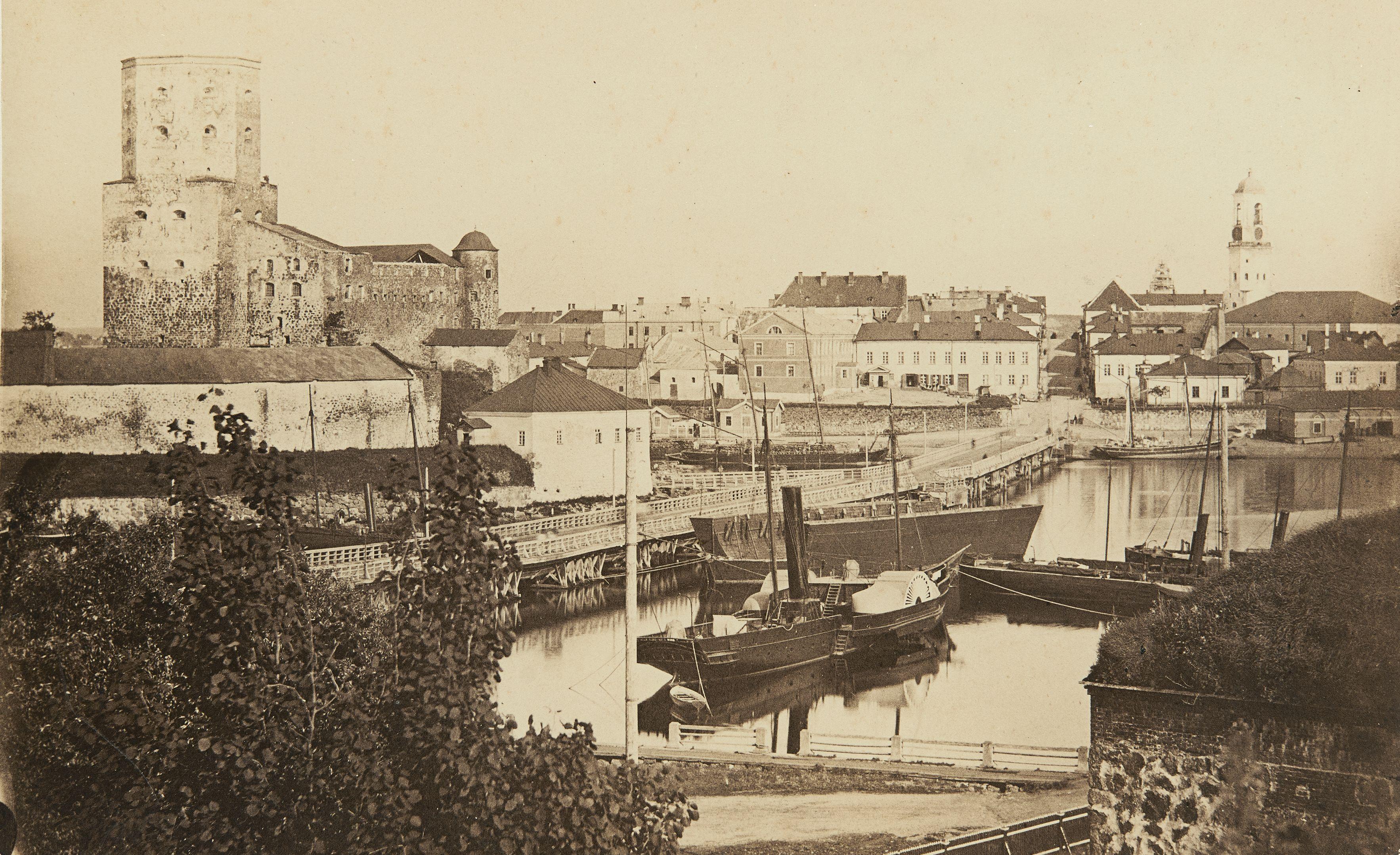Выборгский замок и город в 1880-х