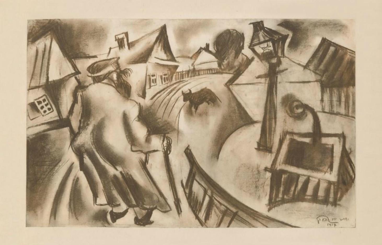 05. Старый еврей, идущий по улице