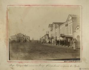 Князь-Федоровская сторона. Вид улицы с каменными 2-этажными домами