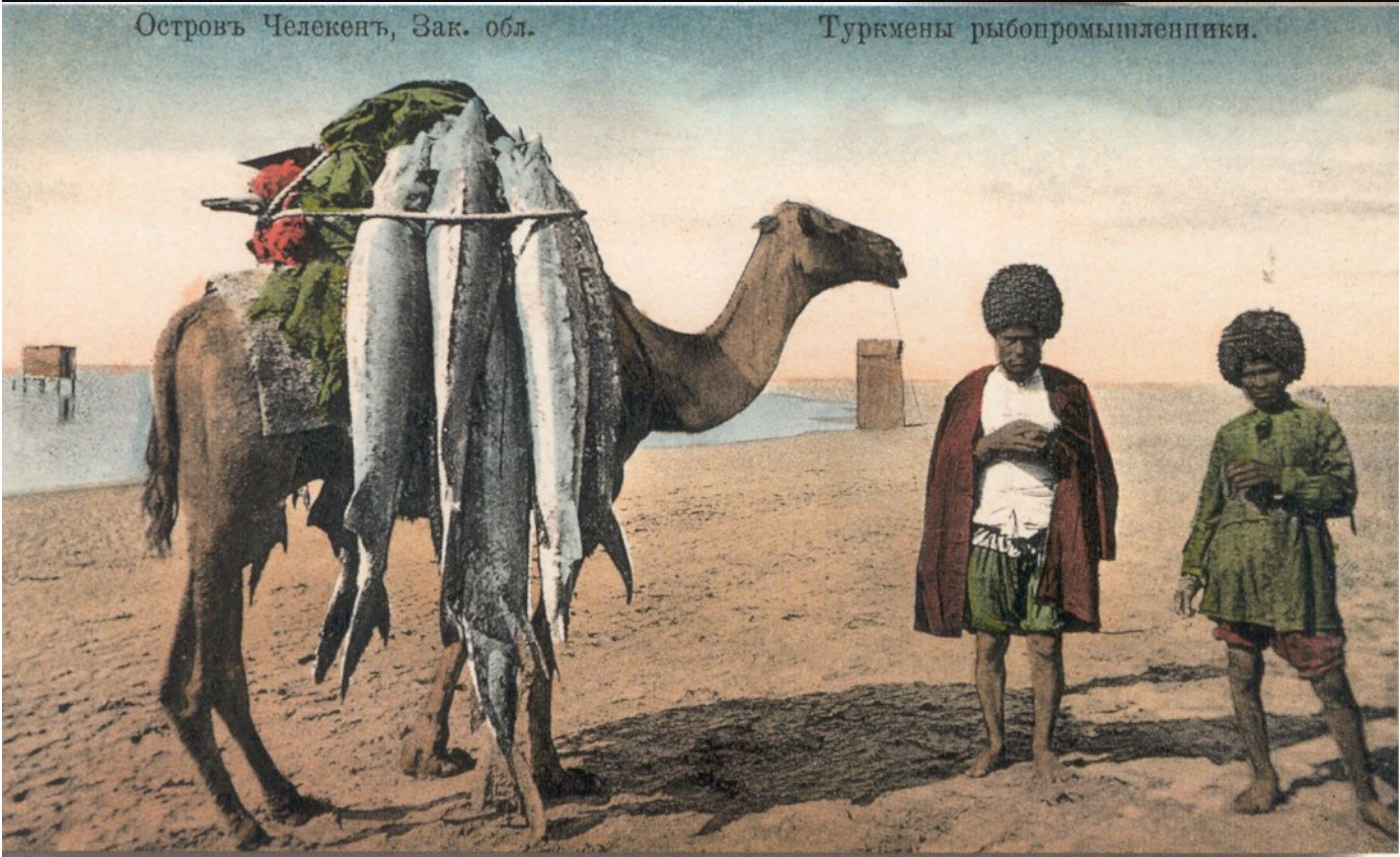Окрестности Красноводска. Челекен. Туркмены рыбопромышленники.jpg