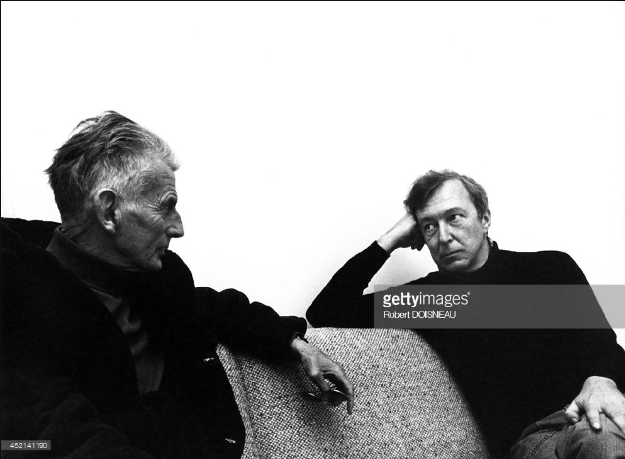 1975. Писатель Сэмюэл Беккет и художник Джаспер Джонс. Париж.jpg