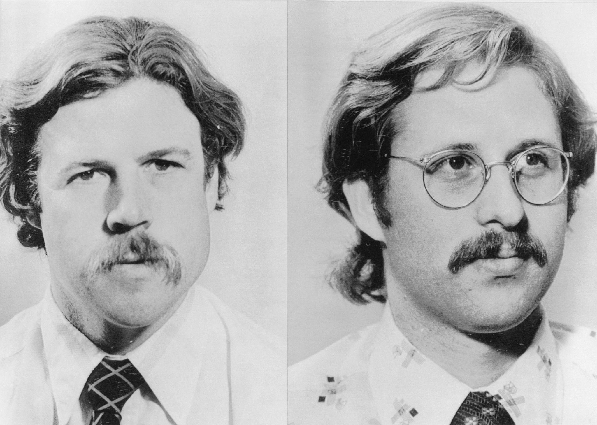 1978. Репортер-экзаменатор из Сан-Франциско Тим Рейтерман (слева) и фотограф Грег Робинсон. Робинсон был одним из пяти убитых, а Рейтерман был одним …